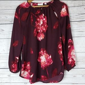 New York & Company Floral Blouse